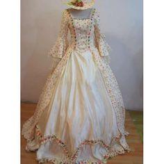 Ivory White Floral Long Sleeve Vintage Regency Wedding Ball Gowns SKU-10101014