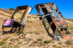 https://flic.kr/p/T1ne84 | Double Trouble | Double Trouble International Car Forest of the Last Church   Goldfield, Nevada