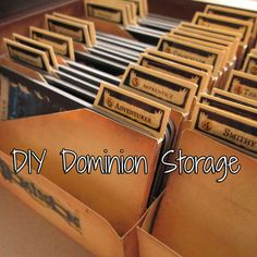 A silhouette studio file to create your own dominions storage, based off of Drew's Dominion Storage on Board Game Geeks.