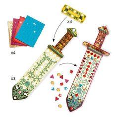 Vyzdob si 3 silné meče z pevného kartónu mozaikovými nálepkami s metalickým leskom, a potom ich môžeš použiť so svojimi priateľmi na súboj ako skutoční piráti! Activities For 5 Year Olds, Creative Activities For Kids, Party Activities, Thick Cardboard, Creative Box, Kids Dress Up, Stickers, Boro, Party Time