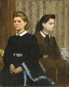 The Bellelli Sisters (Giovanna and Giuliana Bellelli), Edgar Degas. France, 1865-66. M.46.3.3. Mr. and Mrs. George Gard De Sylva Collection. LACMA.