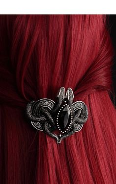 "Restyle Gothic Serpent Hair Slide ""Gorgeous!!"" ...and the colour of the hair!"