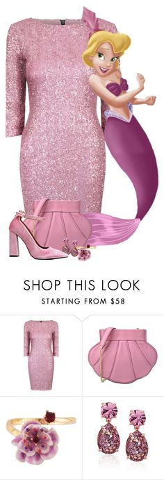 """""""The Little Mermaid - Andrina"""" by iristaha ❤ liked on Polyvore featuring Alice & You, Boutique Moschino, Les Néréides and Kate Spade"""
