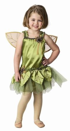 Jr. Garden Fairy Dress with Detachable Wings in Green (6 - 8 years) *** To view further for this item, visit the image link.