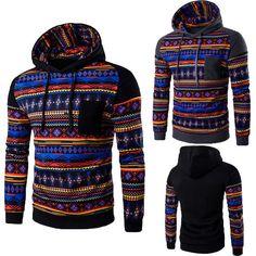 nice Men's Winter Hoodie Warm Hooded Sweatshirt Coat Jacket Outwear Sweater US STOCK Men's jacket 2017