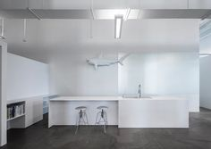 blue communications office space by jean guy chabauty and anne sophie goneau photo blue white office space