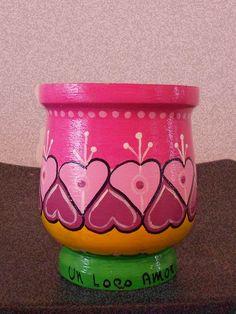 Mates Pintados Paper Mache Bowls, Paper Mache Crafts, Clay Pot Crafts, Decorated Flower Pots, Painted Flower Pots, Painted Pots, Ceramic Pots, Terracotta Pots, Clay Pots