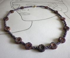 Glasketten - Collier Viola - ein Designerstück von sibea bei DaWanda