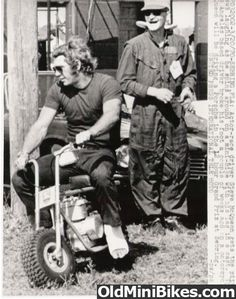 Steve McQueen on a minibike 1970