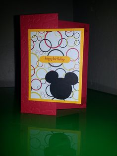 Mickey Mouse Birthday Card on Etsy, $3.99