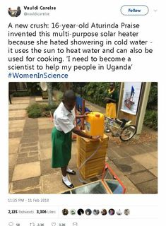 Young woman scientist helping her people in Uganda Be My Hero, Memes, Bill Gates, Gives Me Hope, Faith In Humanity Restored, Science, We Are The World, Wtf Fun Facts, The More You Know