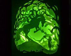Winter Night Framed Paper Cut Illuminated Paper por HeidiVilkman