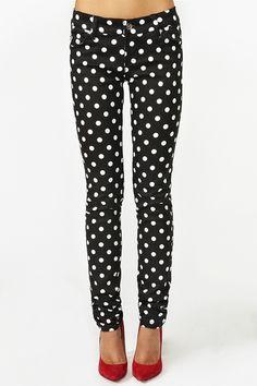 NEED!!!!! 10 Crosby Derek Lam Polka Dot Wide Leg Pants available ...