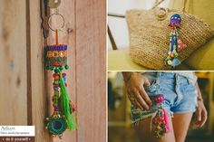 Boho Keychain, Tassel Keychain, 3 Charm Keychain DIY Kits, Boho Bag Accessory, Boho Ornaments, DIY Boho Jewelry, Crafts Kit Gift for Adult
