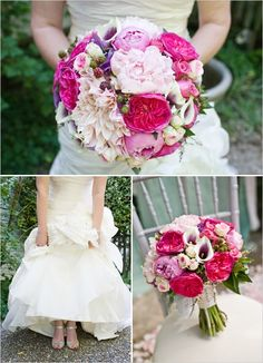 pink wedding boquet
