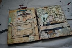 Amazing art journal... The binder ring  binding is a great expandable option