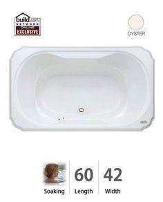 "Jacuzzi BEL6042 BCX XXX 60"" x 42"" Bellavista Drop In Soaking Bathtub with Center Oyster Tub Soaking Drop-In"