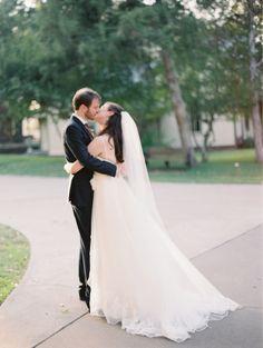 kissed #bride #groom #wedding