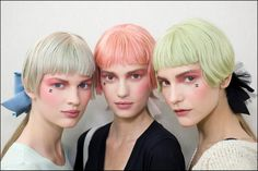 Chanel Cruise 2012-13 backstage makeup looks in pink
