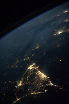 Meanwhile, in space....  Astronaut Karen Nyberg posted this shot to Twitter yesterday from the International Space Station. Those lights are in Oman and the United Arab Emirates.