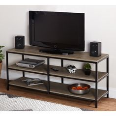 Simple Living Piazza Entertainment Stand - 16949267 - Overstock - Great Deals on Simple Living Entertainment Centers - Mobile