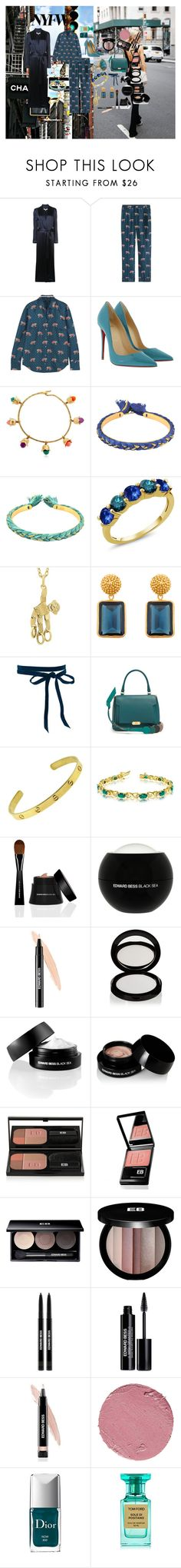 """New York Fashion Week: Pajama Formula"" by atho-12345 ❤ liked on Polyvore featuring Galvan, J.Crew, Christian Louboutin, Aurélie Bidermann, Pomellato, Julie Vos, Anya Hindmarch, Cartier, Allurez and Edward Bess"