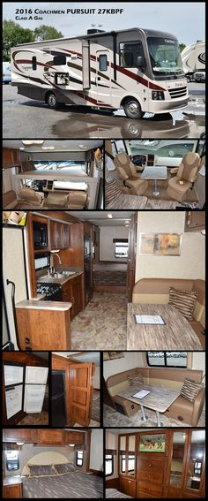 The all new 2016 Pursuit 27KBPF Class A Gas Motorhome by Coachmen offers an abundance of counter and storage space along with stunning interiors to give you a home away from home!