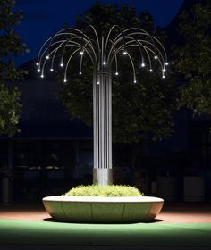 Olimpio planter/bench with LED street lamps by Bellitalia. Click image to enlarge and visit the slowottawa.ca boards >> https://www.pinterest.com/slowottawa/