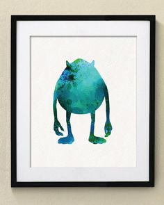 Monsters Inc Mike Wazowski Watercolor Painting Nursery art Wall Art Wall Decor Art Home Decor Wall Decor by watercolormagazine on Etsy https://www.etsy.com/listing/209420317/monsters-inc-mike-wazowski-watercolor