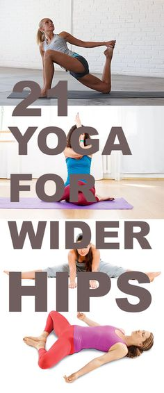If you have always thought that your hips were too small and you dreamt of ways to increase it. You have your wish today this post will show some yoga poses for bigger buttocks and they are also grea Fitness Po, Yoga Fitness, Health Fitness, Dip Workout, Butt Workout, Thigh Workouts, Glute Exercises, Partner Yoga, How To Widen Hips