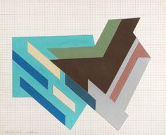 """Bogoria Sketch,"" 1972. Frank Stella."