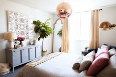 Home Tour: An Event Designer's Perfectly Ladylike Apartment: Tour the expertly styled bohemian-eclectic home of bespoke event producer Stephanie Cove. West Hollywood Apartment, Domaine Home, The Design Files, Home Hacks, Home Decor Bedroom, Bedroom Ideas, Home Decor Inspiration, House Tours, House Design