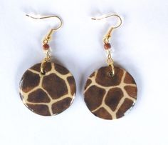 Giraffe print #earrings