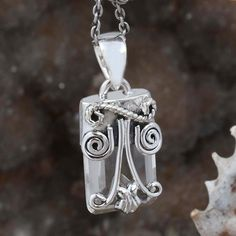 """HOT SELL Crystal Cut 925 SOLID STERLING SILVER PENDANT 4.25g P8313 L-1.10"""" #Handmade #Pendant"""