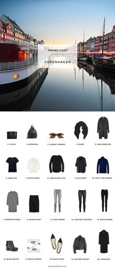 What to pack for Copenhagen, Denmark in the Fall. Minimalist but stylish packing » digital nomad lifestyle, location independence, and travel tips