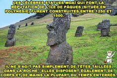 Des statues dont la taille varie de 1 à 10 m et dont le poids atteint jusqu'à 80 tonnes ! 🗿
