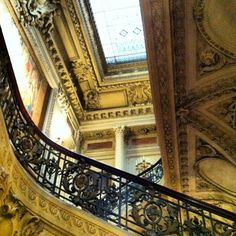 Grand Staircase with skylight above, The Breakers, Vanderbilt Mansion, Newport, Rhode Island Grand Staircase, Staircase Design, Stairs, Baroque Architecture, Architecture Details, The Breakers Newport, Newport Cottages, Newport Rhode Island, Mansions Homes