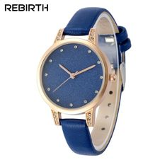 REBIRTH Chic Luxury 3ATM Daily Water Resistant Fashion Women Analog Watch Elegant Simple Wristwatch for Lady