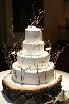 Nature Wedding Cake Ideas | Nature inspired wedding cake! | ideas for my baby girl Shy's Big Day:)