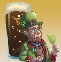 Beer Festival Mascotte - Irish Leprechaun by ElioFinocchiaro.deviantart.com on @DeviantArt
