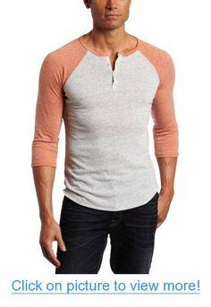 Alternative Men's 3/4 Sleeve Henley Shirt