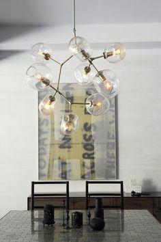 Lindsey Adelman's light fixtures. Beautiful and industrial.