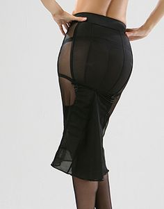 Sheer secretary skirt...slip? Well well. @Dawn Cameron-Hollyer Wortman your post reminded me of this