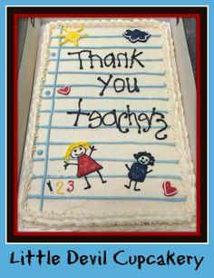 Teacher appreciation sheet cake