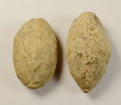 SYMBOLS _ Scarce Lot Of 2 Ancient Greek Military Lead Sling Bullets Shots in…
