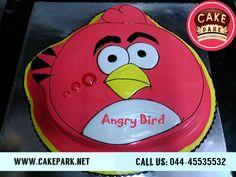 A funny cake - Kids special Cakes are available from our cake shop. Angry bird cake for your kids birthday party. Its very surprising for your son or daughter.  #kids cakes #Exotic cakes #customized cakes  Visit us: www.cakepark.net Call us: 044-45535532