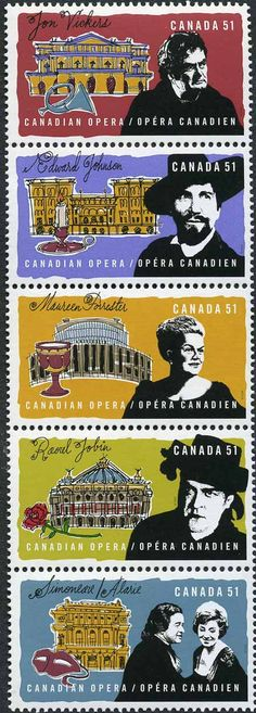 Not entirely ours, but a collection of fantastic Canada Post stamps of Canadian opera singers who have graced the stage with us.   Designed by Paul Haslip and Judith Lacerte #opera #singers