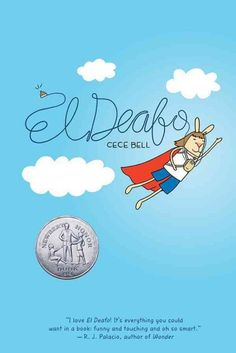"""A poignant graphic tale based on the creator's own experiences with hearing loss follows the adventures of young Cece, who develops """"superpowers"""" to manage the challenges of making friends while wearing a bulky hearing aid that sometimes lets her hear things she shouldn't.  Newbery Honor Book.  Ages 8-12."""