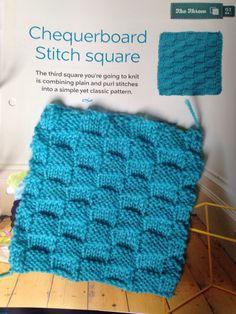 Issue 2 - Chequerboard stitch square