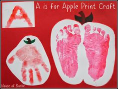A is for Apple Print Craft - House of Burke